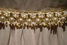 Detalles: Cinturón Bordado a Mano. Esta realizado con perlas ...