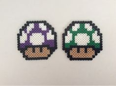 Nintendo Perler Beads - Toad and Mini Gameboys