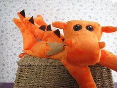 Loveable, huggable dragon for you to sew on your own! Finished size: Approx 21  Pattern to make your own stuffed dragon. This dragon is super cuddly and loveable - definitely the friendly version, not the fire breathing variety. :) Great gift idea for kids of any age. The plush dragon can be made totally baby safe. Make a toy to last a lifetime.  You are welcome to make this pattern to sell. Please include a link to my Etsy shop in your digital listing or on your hang tag for physical items…