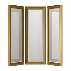 "LEVANGER mirror, gold Width: 61 "" Height: 55 1/8 "" Width: 155 cm Height: 140 cm---painted this would be great help getting dressed!"