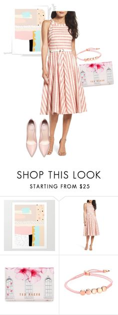 """dress"" by masayuki4499 ❤ liked on Polyvore featuring Eliza J, Ted Baker and Monica Vinader"