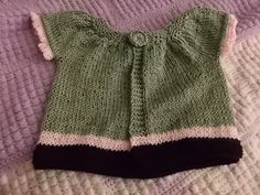 Little Girls Swing Vest # 2 - Kennedy knit