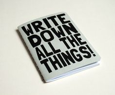 Creative: Eleven Ace Ways To Take Note  (via Handmade notebook 'All the things' by PurpleCactusDesign )