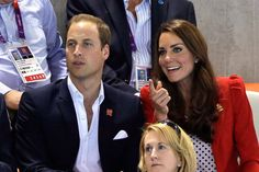 Prince William & Kate Dutchess of Cambridge during the 2012 Summer Olympics in London