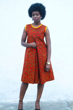 Ankara Print Dress imprimer robe africaine par JuanJayzzDesign