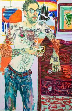 "dwnsy: "" Hope Gangloff's Artworks with Acrylic on Canvas """