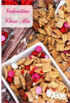 Sweet and salty Valentine's Chex mix