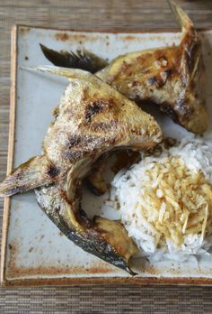 Broiled Yellowtail Collar with Daikon = simple, easy izakaya food. #recipe