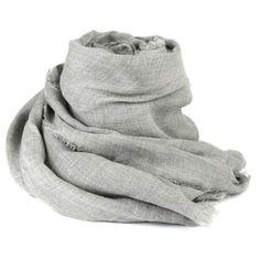 Faliero Sarti Azzurra Scarf (€255) ❤ liked on Polyvore featuring accessories, scarves, designers, faliero sarti, home, women's, grey shawl, grey scarves, faliero sarti scarves and gray shawl