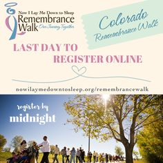 """The NILMDTS Remembrance Walk, """"Our Journey Together"""" is for parents, family members, and friends to come together to remember a precious baby who has died due to miscarriage, stillbirth, SIDS, neonatal or any type of pregnancy or infant loss.  Wherever you are in your journey, lets join together as a community to remember our babies.  https://www.nowilaymedowntosleep.org/remembrancewalk/?utm_source=pin&utm_medium=smpost"""