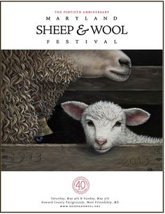 Poster for 40th Maryland Sheep and Wool Festival