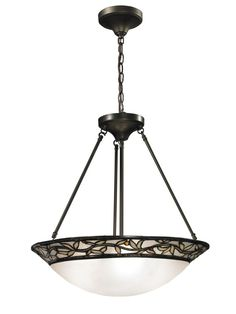 Springdale Lighting TH12319 Cyprus Oaks Inverted Pendant In Dark Bronze is made by the brand Springdale Lighting. It has a part number of TH12319.
