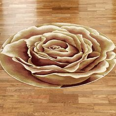 Rose Floral Splendor Round Rugs