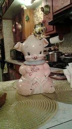 Vintage Rare Baby Pig In Diaper Cookie Jar ~ by ForeverandAlways1923