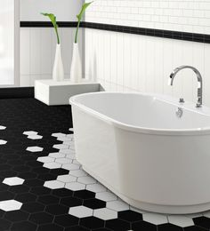 This subtly-textured glazed enamel can be combined to create original patterns. The hexagonal tile, offered in four colours, will certainly inspire a concept that is anything but ordinary. Whether for a residential or commercial project, this classic has