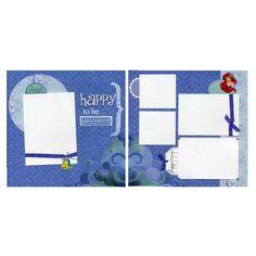 Two Premade Scrapbook Pages - Ariel - Part of Your World | SusansScrapbookShack - Paper/Books on ArtFire