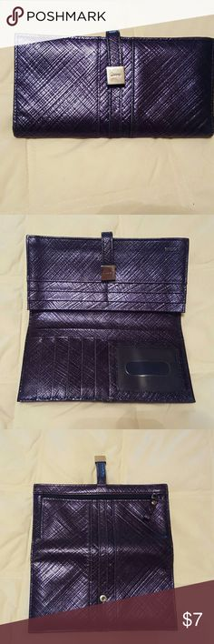 Lodis metallic navy blue wallet Some wear, but has a lot of life yet. Very clean. Bags Wallets