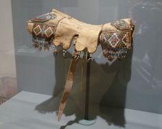 Plains Indian beaded saddle