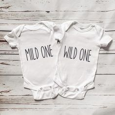 Custom Baby Onesies, Newborn Onesies, Best Friend Onesies, Twin Baby Gifts, Baby Life Hacks, Twins 1st Birthdays, White Bodysuit, Best Friends Forever, Twin Babies