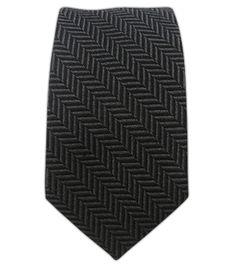 Wool Herringbone - Black/Charcoal (Skinny) || Ties - Wear Your Good Tie. Every Day - Wool Herringbone - Black/Charcoal (Skinny) Ties