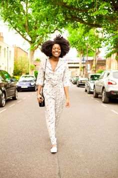the white pepper jumpsuit, jumpsuit, afro, i go by frankie, personal stylist, confidence coach, she unleashed, calvin klein bag, river island shoes, pointy flats
