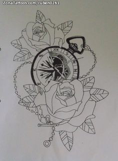 Diseño/Plantilla tatuaje Relojes