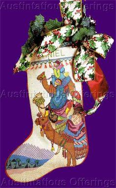 Rare Camel Mounted Three Magi Cross Stitch Stocking Kit Wisemen - I like this one a lot