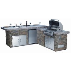 Bull Outdoor Gourmet-Q Grilling Island w/Built-In Grill #LearnShopEnjoy