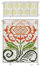 Many patterns! Photos knit free fair isle chart flower
