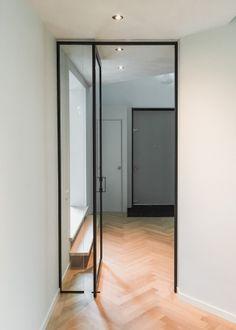 Steellook taatsdeur met vast zijlijcht Sliding Doors, Aluminium, Plank, Oversized Mirror, Modern, Windows, Living Room, Interior Design, Architecture
