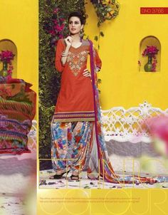 Zara Cotton Embroidered Unstitched Patiala Suits http://www.glamzon.com/Designer-Unstitched-catid-414883-page-1.html
