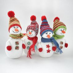 Ау #друзья 🔊   #Зима на носу ⛄⛄⛄⛄  А мы уже тут 😉  Антон, Вадим, Трофим и Никодим ⛄   #снеговики   #ручнаяработаназаказ   #связанокрючком   #амигуруми #хэндмэйд #хобби   #weamiguru #amigurumidoll #amigurumi#Crochet #Crocheting #ilovecrochet #handmade  #snowpeople   #toys_gallery #toy   #nvrsk #allnvrsk #goodmorning   #Новороссийск #Краснодар #Кубань #Сочи #Геленджик