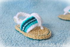 Ravelry: Sporty Flip Flop Baby Sandals for Boys and Girls pattern by Lorin Jean