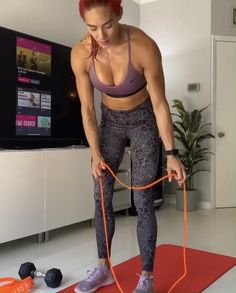 Fitness Workouts, Gym Workout Videos, Gym Workout For Beginners, Fitness Workout For Women, At Home Workouts, Workout From Home, Band Workouts, Exercise Bands, Band Exercises