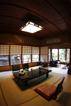 Pleasant Japanese traditional onsen hotel room