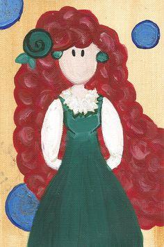 Merida Original Illustration by maddierosedoodles on Etsy, $5.00