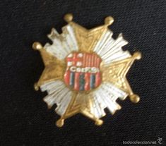 MUY ANTIGUA INSIGNIA DEL CLUB DE FUTBOL BARCELONA