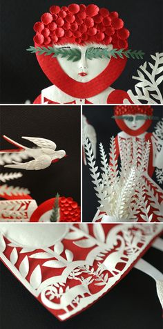 Elsa Mora's papercut work... amazing!