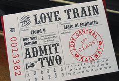Love Train Ticket Letterpress Card | Paper Crave