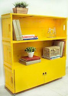 Mude a decoração do seu apartamento reaproveitando objetos - caixa de madeira