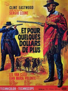 """For A Few Dollars More 1966 French 47""""x63"""" Poster lb Clint Eastwood Sergio Leone 