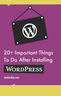 What To Do After WordPress Installation? Here are the list of important things you need to do: http://www.twelveskip.com/guide/blogging/1098/what-to-do-after-wordpress-install