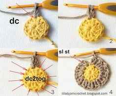 Circles of the Sun Mystery CAL 2015 - overlay crochet - Block 1 crochet pattern by LillaBjornCrochet Crochet Cushions, Crochet Quilt, Crochet Blocks, Crochet Pillow, Diy Crochet, Crochet Doilies, Crochet Flowers, Crochet Afghans, Crochet Blankets