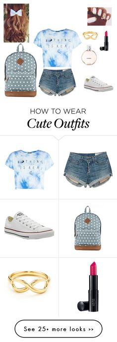 """Summer outfit#9"" by maddieslad on Polyvore featuring moda, rag & bone, Laura Geller, Chanel y Converse"