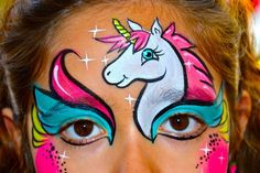 Cute Unicorn Face Painting Mask. Colors are Perfect!