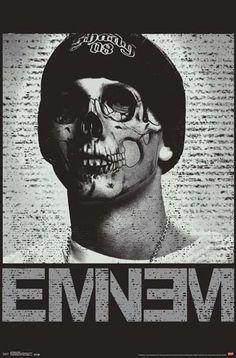 $16.24 AUD - Eminem Skull Shady Poster (87X57Cm) Wall Art #ebay #Home & Garden