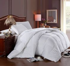 Royal Hotel Super Oversized - Soft and Fluffy Goose Down Alternative Comforter - Fits Pillow Top Beds - Queen x Cotton Shell - Medium Warmth White Down Comforter, Queen Comforter Sets, White Bedding, Fluffy Comforter, Pottery Barn, Console, Ikea, Shabby, Cotton Bedding Sets