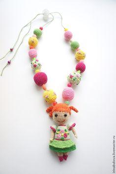 """Слингобусы ручной работы. Ярмарка Мастеров - ручная работа. Купить Слингобусы """"Кукла"""". Handmade. Слингобусы с игрушкой, мама-бусы, кукла"""