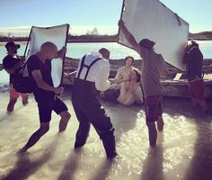 NEW BTS Pic of Caitriona Balfe and Sam Heughan from EW Photoshoot   Outlander Online