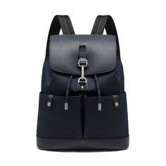 New Edition!2016 Mulberry Handbags Collection Outlet UK-Mulberry Marty Backpack Midnight Blue Calfskin and Nylon